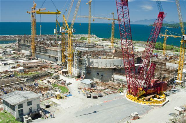 Obras na usina nuclear de Angra 3