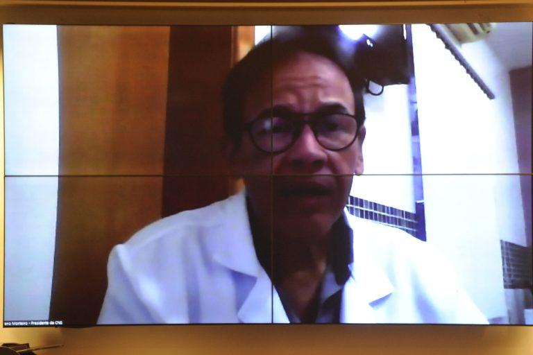 Audiência Pública - A Situação da Central de Distribuição do Kit Intubação. Presidente Confederação Nacional de Saúde, Breno de Figueiredo Monteiro